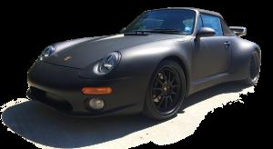 1995-Porsche-911-Cabriolet,-Avery-Dennison-Matte-Black-01-SILO