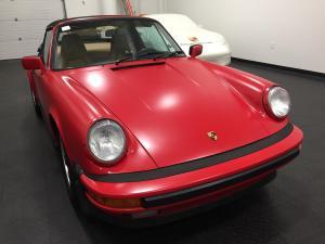 1987 Porsche 911 Cabriolet, Avery Dennison Satin Carmine Red