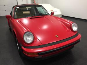 1987 Porsche 911 Cabriolet, Avery Dennison Satin Carmine Red 01
