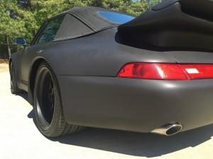 1995 Porsche 911 Cabriolet, Avery Dennison Matte Black