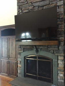 Ballast Point, Custom Iron Support and TV Mount, Sharp AQUOS 70-inch Smart 4k LED TV