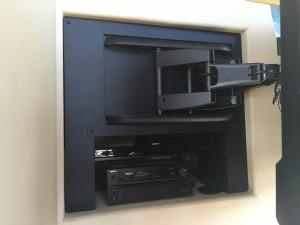 Custom Trim, Shelf, and Articulating TV Mount