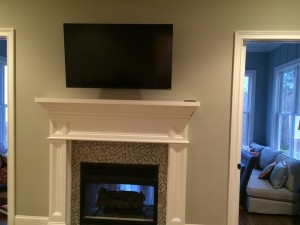Wall-Mounted TV