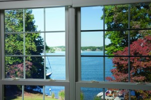 Without and With LLumar Double-Hung Window