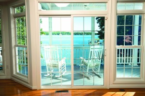 Without and With LLumar Patio Door Window
